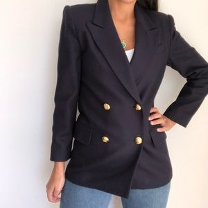 Vintage Oleg Cassini wool double breasted blazer 2